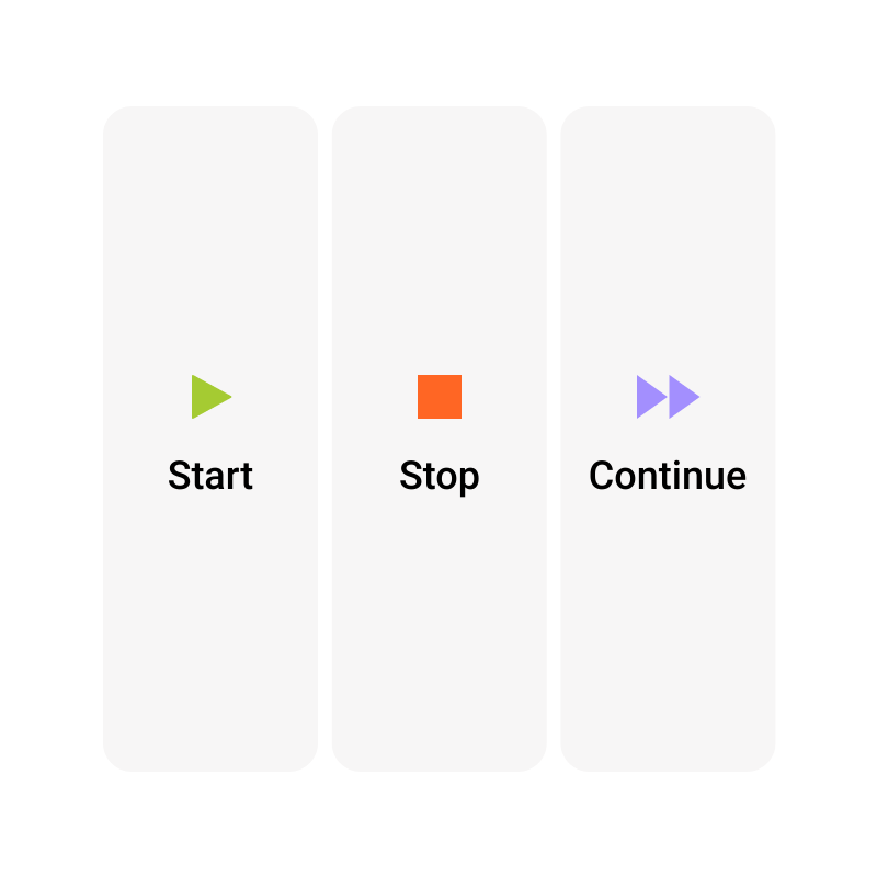 Start Stop Continue Template | Moqups