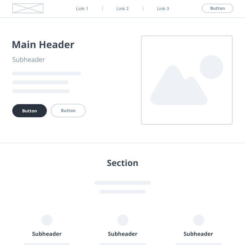 Low Fidelity Wireframe Template | Moqups